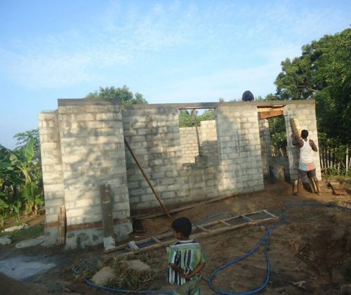 Progress of the 3rd house construction in Nehrupuram, Sri Lanka.